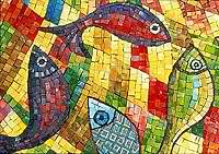 Mosaic Fish Close Up