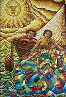 Mosaic Sun and Fishermen