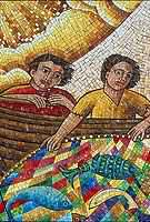 Mosaic Fisherman Close Up