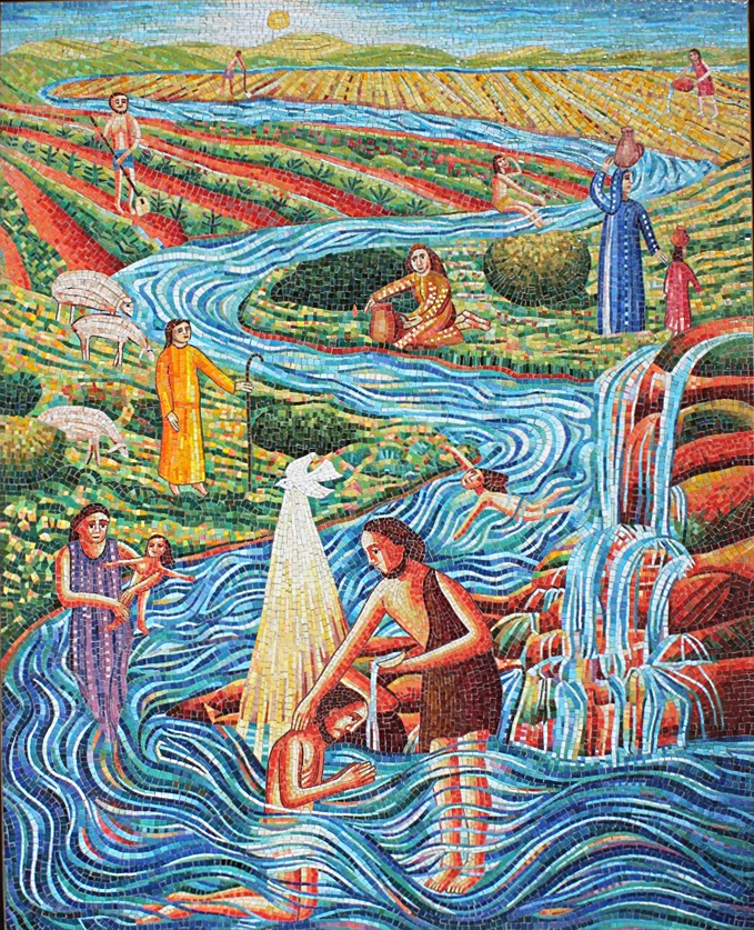 THE RIVER Mosaic
